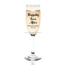 5.5 Oz. fancy crystal clear Plastic San unbreakable custom printed champagne glasses red wine glasses for wedding drinks