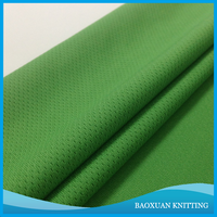 100 Polyester DTY emerald green eyelet fabric brid eyes poly mesh for soccer uniforms and soccer jersey and cycling wear