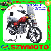 HOT SALE in africa economy big fuel tank GN49 GN125 GN150 SL125-5 HJ125-8 street motorcycle with windshield