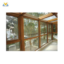 Super low priced high quality outdoor glass wooden aluminum sun room on villa