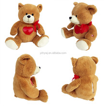 Valentine's gift light up heart plush toy bear