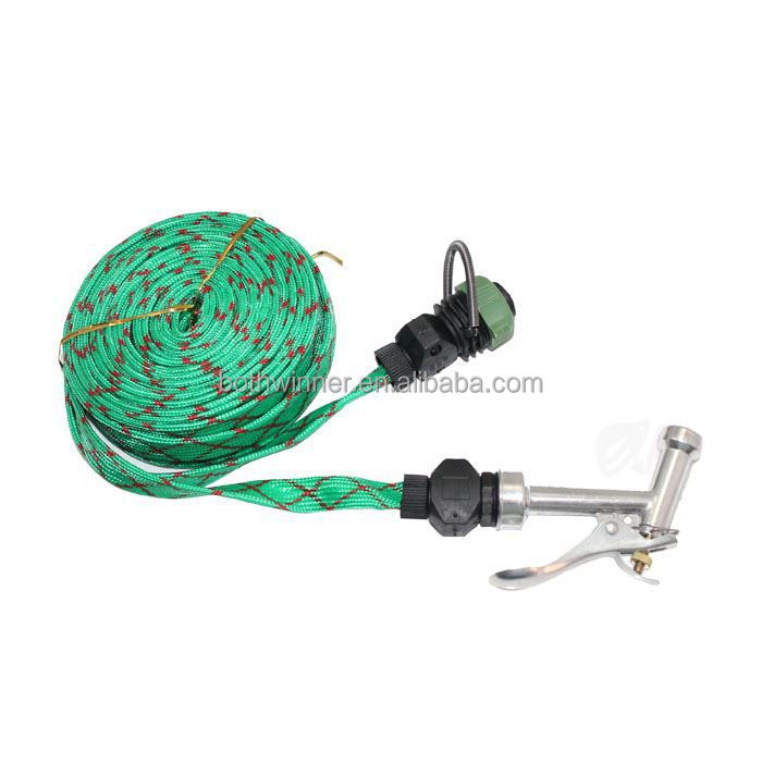 H0T067 automatic rewind garden hose reel high pressure spray water guns collapsible water garden hose