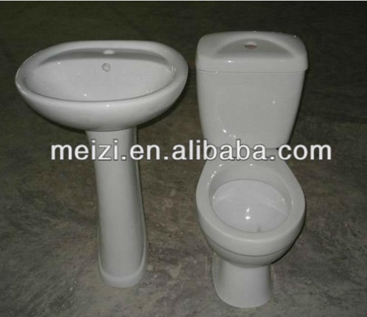 Lavabo de Pedestal de dos piezas set de baño de cerámica ...