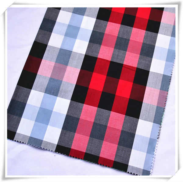 Good quality check design 100cotton yarn dyed fabric