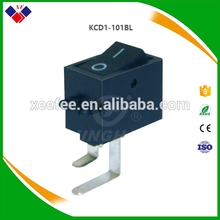 Rocker switch series KCD1-101BL 2.5*0.4 6A/125VAC 3A/250VAC T85