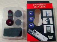 Universal Clip 3 In 1 Cell Phone Accessory With Wide Angle Macro And Fisheye Lens For Phone Zoom Lens For Iphone