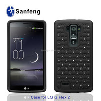 black pc+silicone phone casing and case for Lg g flex 2 Ls996