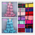 Wholesale NEW design plaid cotton fashion long shawls popular hijab wrap muslim scarves GBS206