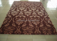 Elegant pattern hand carved rugs for bed room