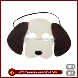 Polyester felt dog shaped cute halloween decoration party face mask