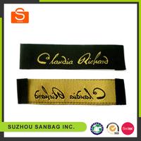 High grade custom woven labels for clothing,center folded woven label