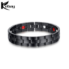 High quality stainless steel healthy magnetic bracelet for men