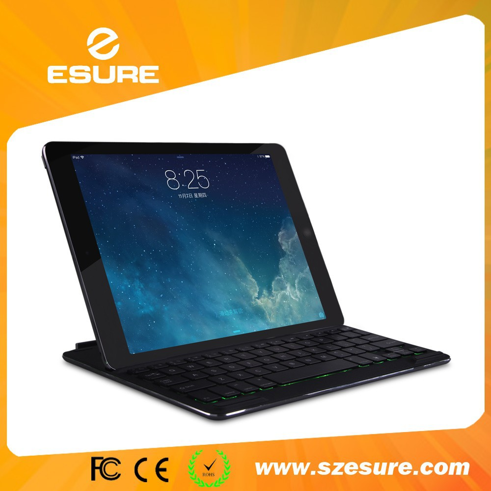 7 color back light bluetooth keyboard for ipad air 2 with magnet