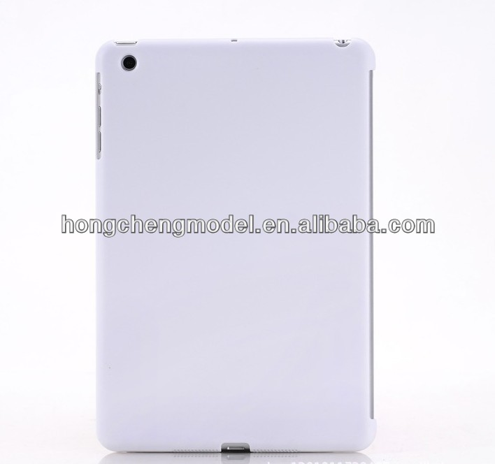 Matte White Solid Transparent Color Blank Hard Tablet Case For iPad Smart Cover Partner