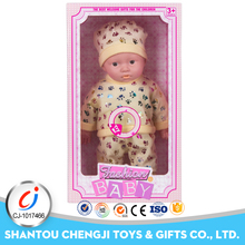 2017 hot sale lovely cotton soft 12 inch real looking baby dolls with 12 sound