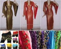 Belly dancing accessories, costumes, suits, bras, belts - colors - many designs - with coins