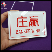 acrylic baccarat banker/player button