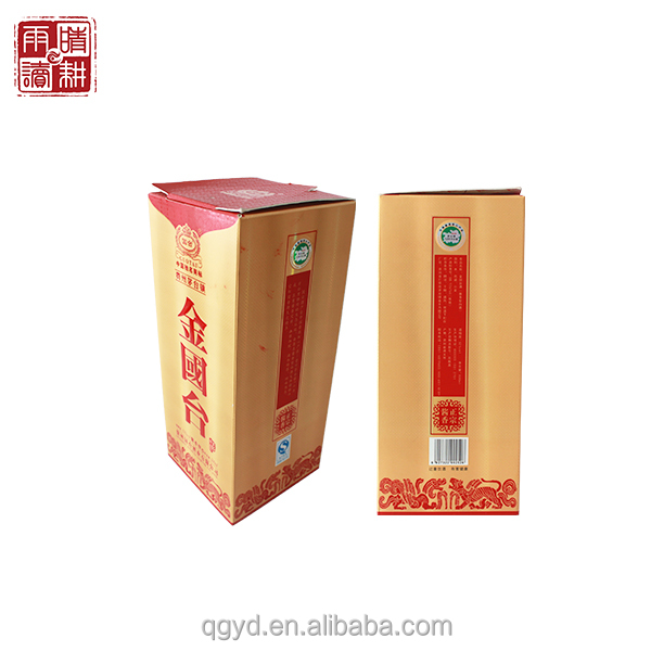 2014 China custom cheap recycled decorate luxury branded design classic cardboard paper wine boxes