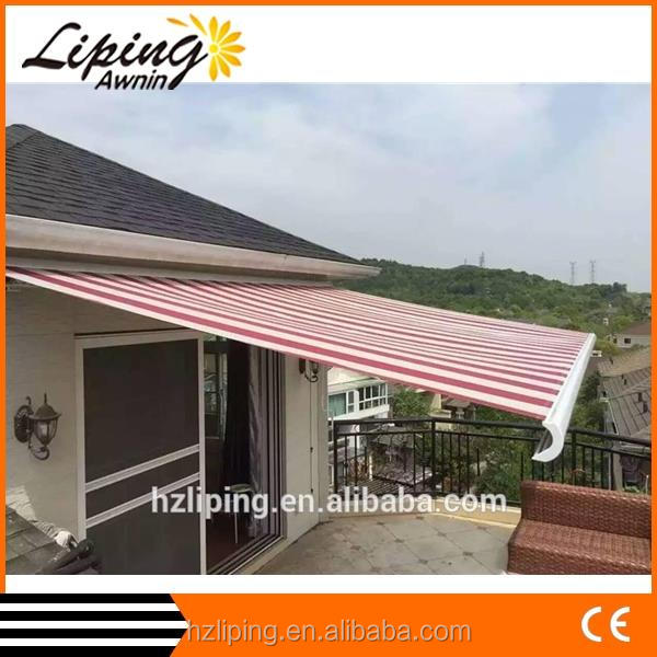 2.5m*1.5m- Retractable Full Cassette Folding arm Awning with LED light