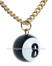 8 ball pendant chain necklaces for mens