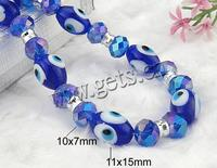 11x15mm 10x7mm With Crystal & Glass Evil Eye Lampwork Necklace