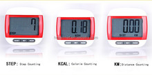 Cheap New Large LCD Screen Multi-Function Walking Step Calorie Calculation Digital Pedometer