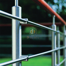 Staircase Railing Wood Handrail Stainless Steel Rod Balustrade