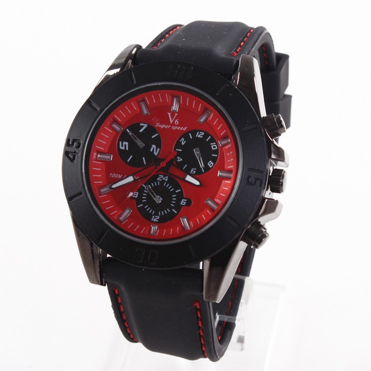 Men Women Silicone Watches Big Dial Quartz Watches China Manufactuer