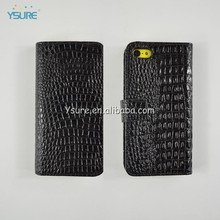 PU Leather Croco Folio Wallet Case for Apple iPhone 5c