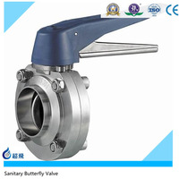 3A Sanitary Welded Butterfly Valve On
