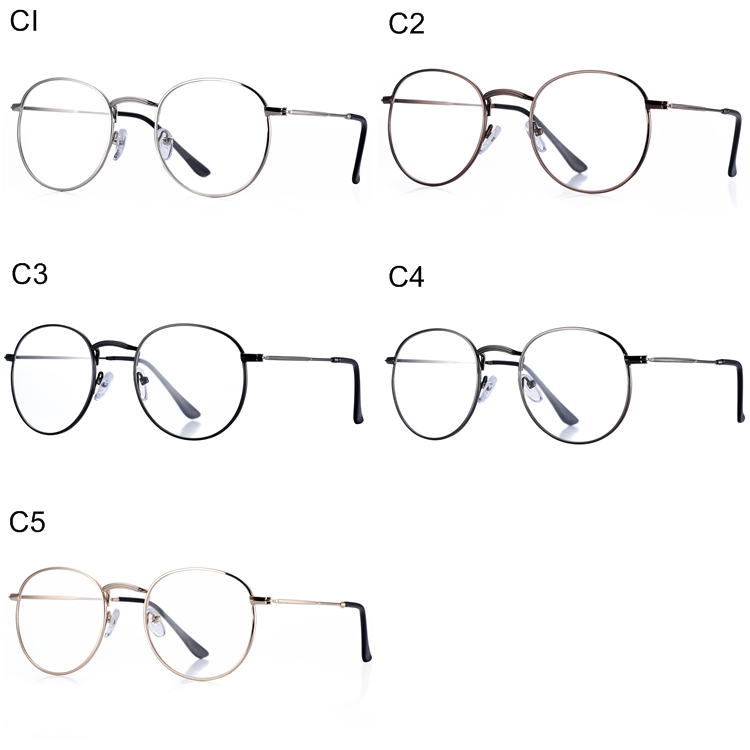 Pro Acme Classic Round Metal Clear Lens Glasses Frame Unisex Circle Eyeglasses PA0913