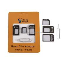 High Quality Universal 4 In 1 Card Kits Acrylic Plastic SIM Card Adapter