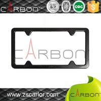 2015 New Arrivals custom carbon fiber car license plate frame