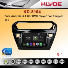 8'' Multi-touch Screen 1080P Wifi Double Din Car DVD Player for Peugeot 301