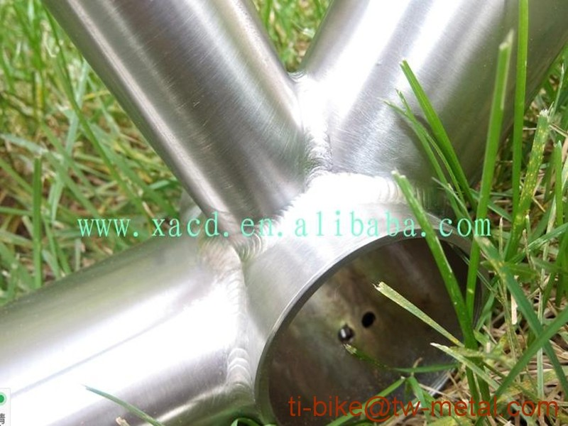 Hot Sale !! titanium tandem bike frame China made titanium two seat bicycle frames XACD customer titanium tandem frames