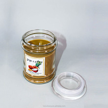 High end scented soy candle in jar