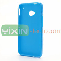 Ultra-Slim Soild Color Glossy flexible Soft TPU Cover Case for HTC One M7