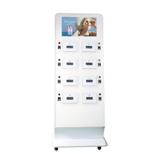 21.5 Inch Airport Mobile Phone Charging Station with lcd advertising touch screen
