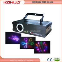 Indoor Christmas LED stage lighting 800mW RGB animation laser lights for home
