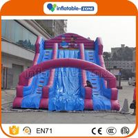 Hot sale inflatable plane slide spongebob inflatable water slide