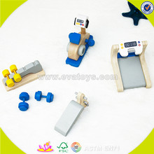 New invention Mini cheap christmas wooden toy gym for children DIY gym equipment toy for baby W06B033