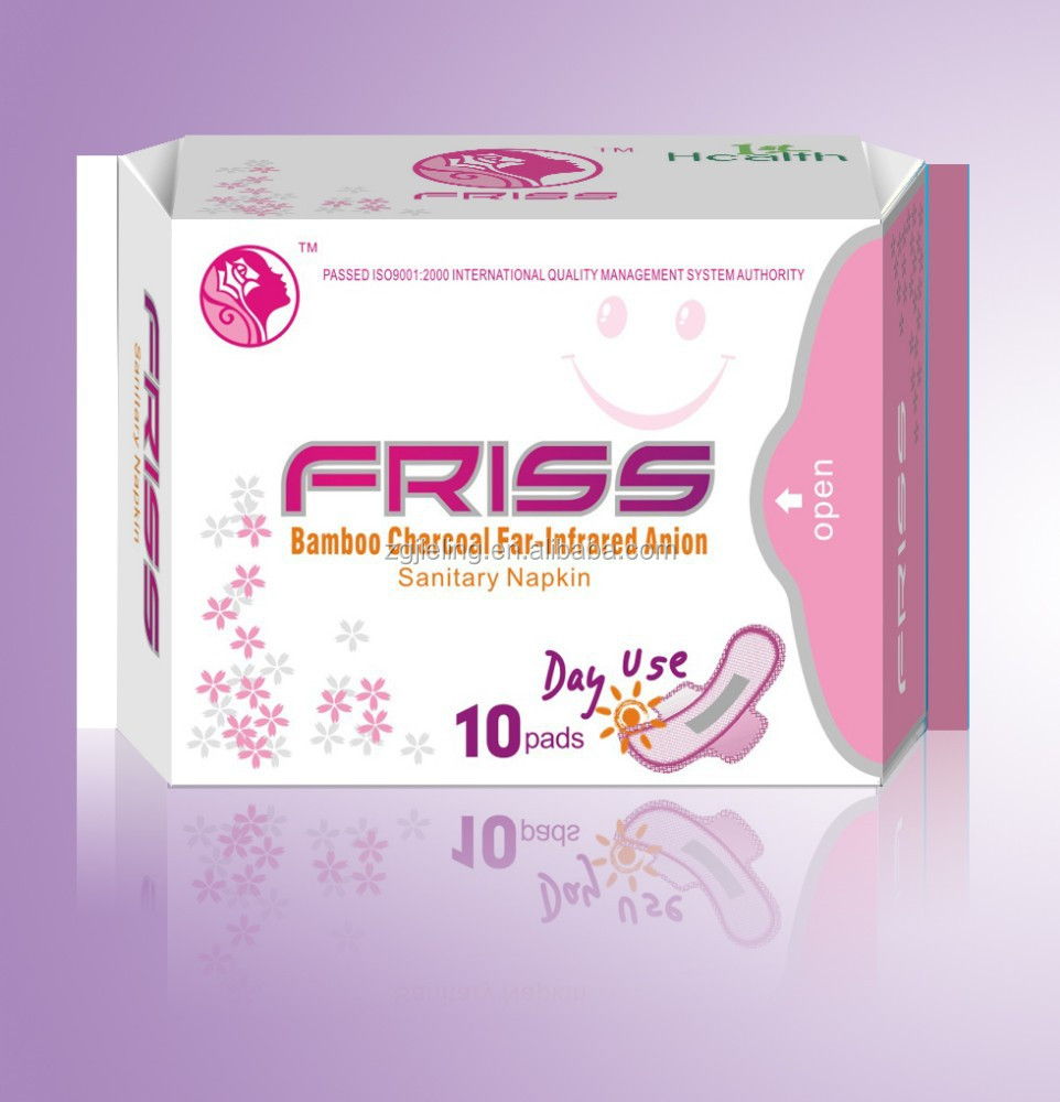 super long 330mm anion sanitary pads for lady