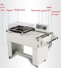 Multifunctional pvc film thermo shrink packing machine/automatic food tray wrapping machine