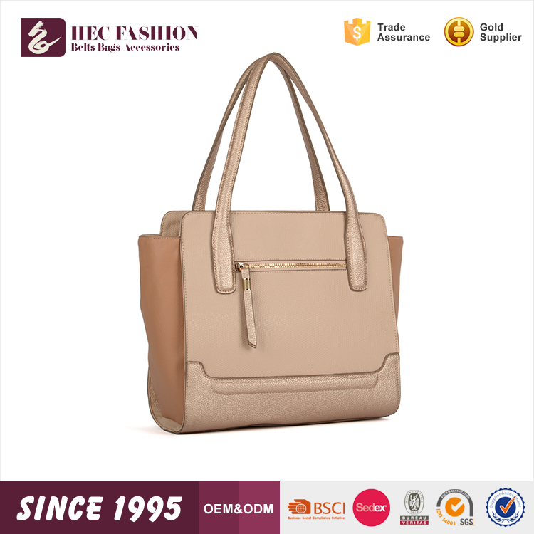HEC Webzhou Hot Sale Woman Leather pu Handbag Stand Shoulder Bags