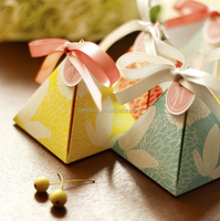 Pyramid Candy Holders Pyramid boxes baby shower gift box Metallic paper and translucent paper, Paper Presentation