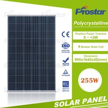 Prostar Thin Film Flexible Roofing Poly 255W Solar Panel For Home Solar Power System