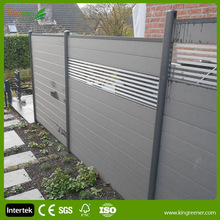 European Market Aluminum Composite Fence with Aluminum Post and Skirt