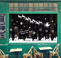 christmas decoration 2015 glass window decals vinyl wall stickers Item SIS-23 in stock