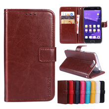 Luxury Flip PU Leather Wallet Mobile phone Cover Case For ZTE Blade V8 with Card Holder
