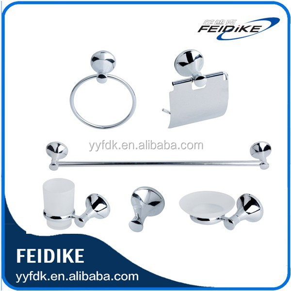 Feidike 7700 metal bathroom accessories set 6pcs set